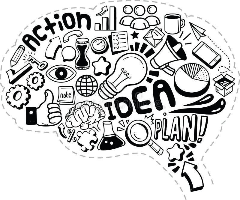 Επιχειρησιακή ιδέα doodles διανυσματική απεικόνιση