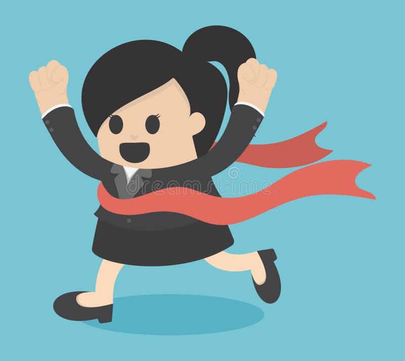 Επιχειρησιακή νίκη γυναικών διανυσματική απεικόνιση
