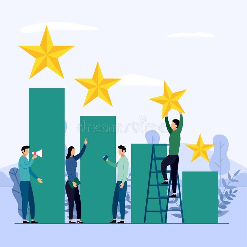 Επιχειρησιακή ομάδα και ανταγωνισμός, επίτευγμα, επιτυχές, πρόκληση απεικόνιση αποθεμάτων