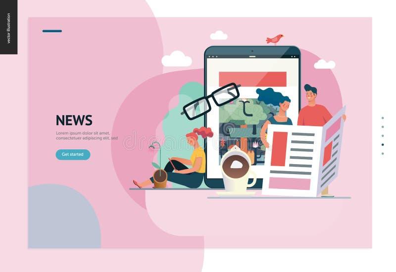 Επιχειρησιακή σειρά - ειδήσεις ή άρθρα, πρότυπο Ιστού απεικόνιση αποθεμάτων