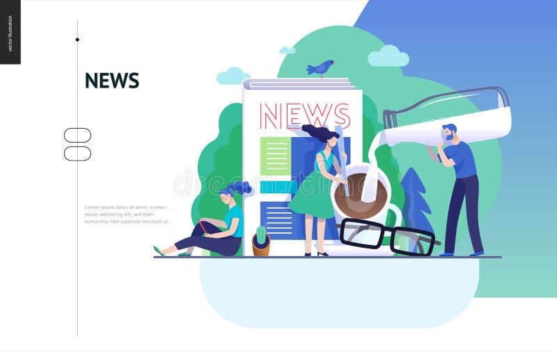 Επιχειρησιακή σειρά - ειδήσεις ή άρθρα, πρότυπο Ιστού ελεύθερη απεικόνιση δικαιώματος