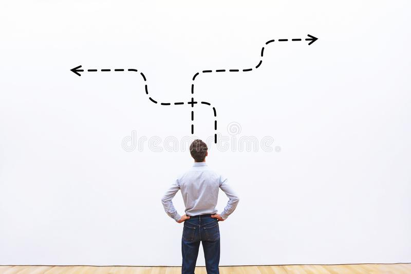 Επιχειρησιακή στρατηγική ή απόφαση - που κάνει την έννοια στοκ εικόνα