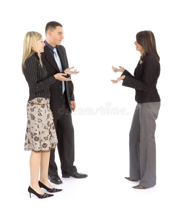 επιχειρησιακή συζήτηση στοκ εικόνα με δικαίωμα ελεύθερης χρήσης