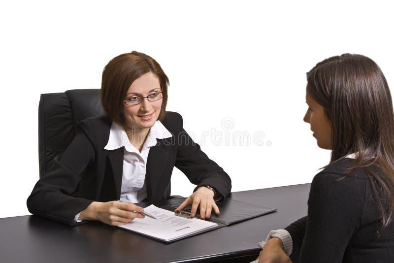 επιχειρησιακή συνέντευξ στοκ εικόνες