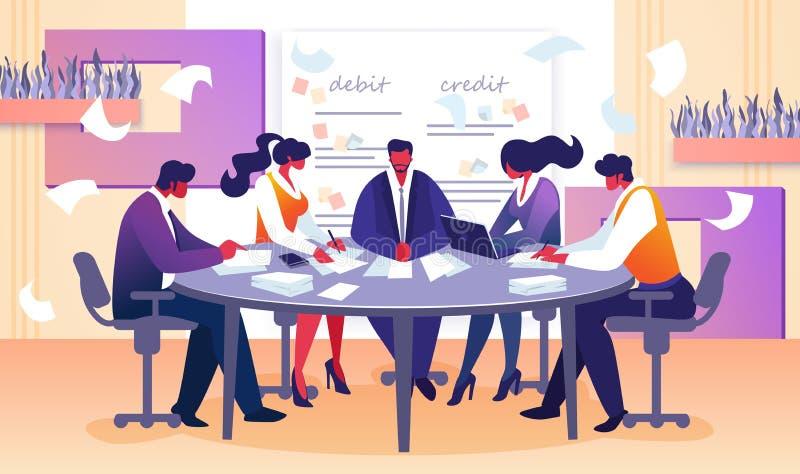 Επιχειρησιακή συνεδρίαση Συμβουλίου του διευθυντή και των υπαλλήλων ελεύθερη απεικόνιση δικαιώματος
