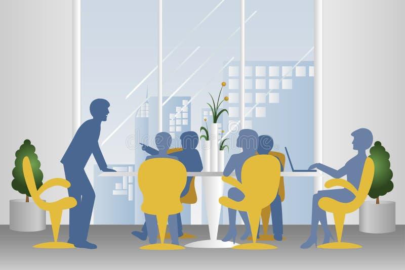 επιχειρησιακή συνεδρίαση ελεύθερη απεικόνιση δικαιώματος