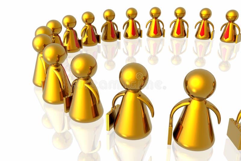 επιχειρησιακή συνεργα&sig διανυσματική απεικόνιση