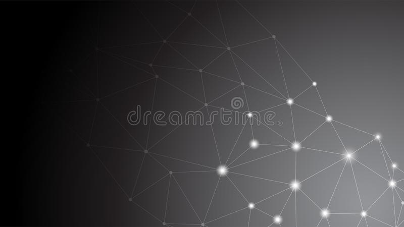 Επιχειρησιακή σφαιρική σύνδεση, αφηρημένο συνδέοντας σημείο δικτύων, γραμμές, που απομονώνονται στο υπόβαθρο, ψηφιακή έννοια τεχν διανυσματική απεικόνιση