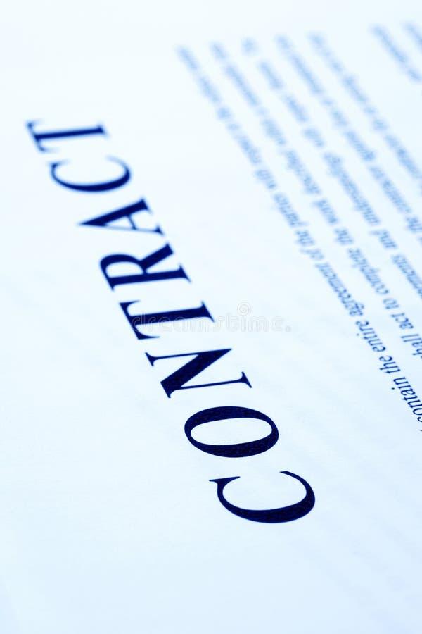 επιχειρησιακή σύμβαση στοκ εικόνες