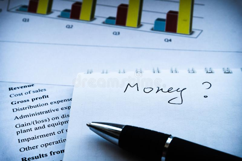 Επιχειρησιακή σύνθεση Οικονομική ανάλυση - εισοδηματική δήλωση, επιχειρηματικό σχέδιο στοκ εικόνες με δικαίωμα ελεύθερης χρήσης