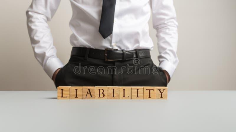 Επιχειρησιακή υποχρέωση και έννοια ευθύνης στοκ εικόνα