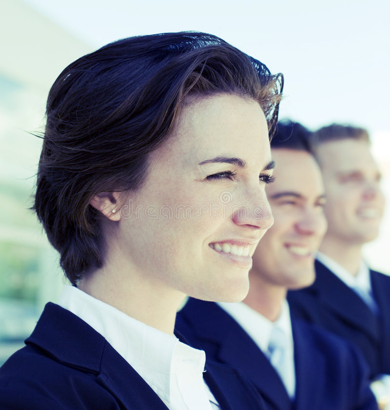 επιχειρησιακή χαμογελώντας ομάδα στοκ εικόνα με δικαίωμα ελεύθερης χρήσης