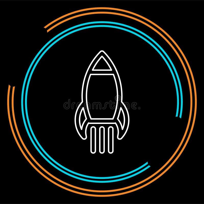Επιχειρησιακή χρηματοδότηση Επιχειρηματίας πυραύλων ξεκινήματος απεικόνιση αποθεμάτων