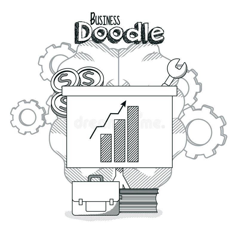 Επιχειρησιακή doodle έννοια ελεύθερη απεικόνιση δικαιώματος