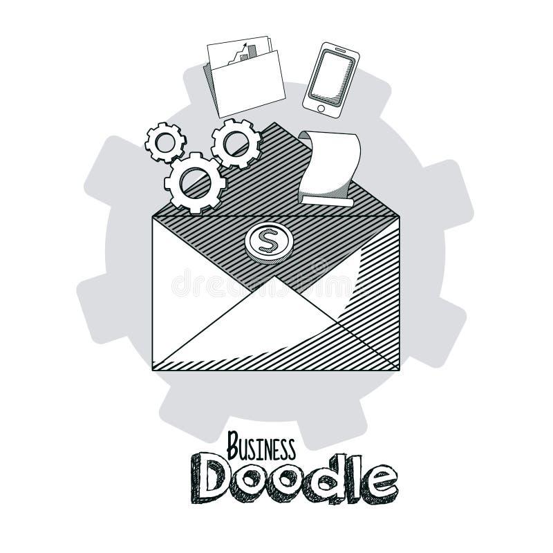 Επιχειρησιακή doodle έννοια απεικόνιση αποθεμάτων