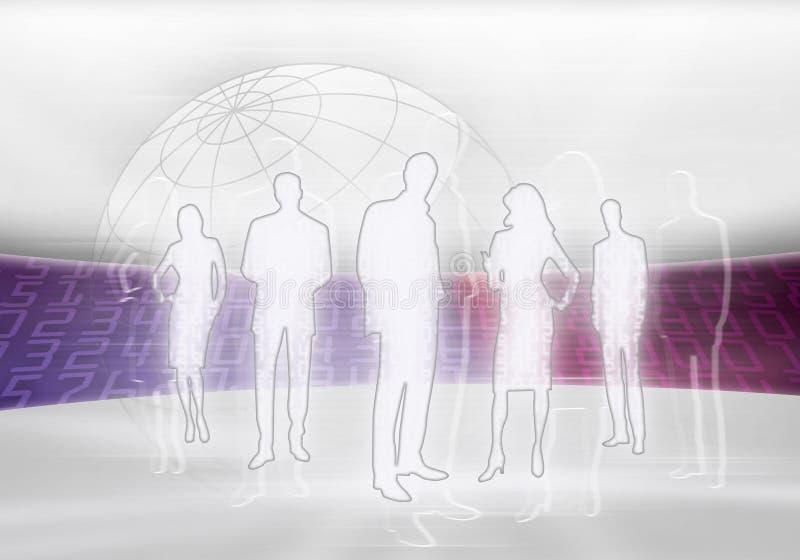 επιχειρησιακοί ψηφιακοί άνθρωποι διανυσματική απεικόνιση