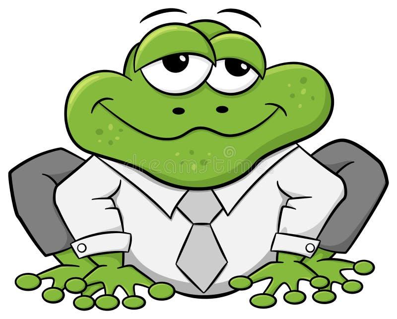 Επιχειρησιακός βάτραχος με το πουκάμισο και το δεσμό ελεύθερη απεικόνιση δικαιώματος