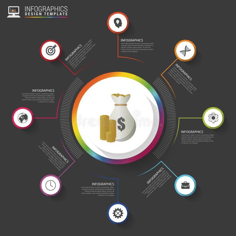 Επιχειρησιακός κύκλος infographic έννοια σύγχρονο πρότυπο σχεδίο&upsil επίσης corel σύρετε το διάνυσμα απεικόνισης διανυσματική απεικόνιση