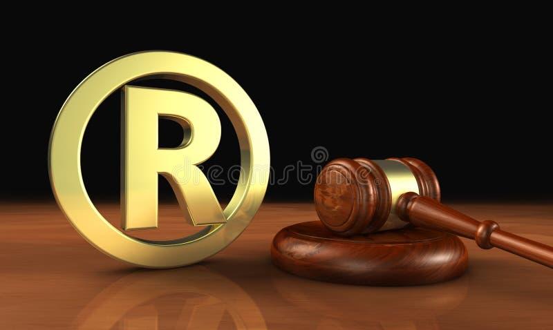Επιχειρησιακός νόμος Αναγνωρισμένων εμπορικών σημάτων διανυσματική απεικόνιση