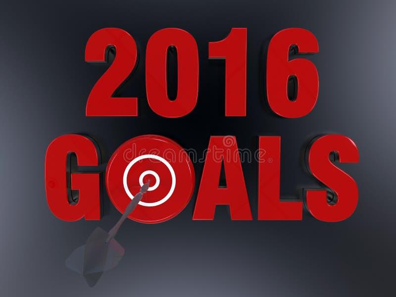 Επιχειρησιακός στόχος για το 2016 διανυσματική απεικόνιση