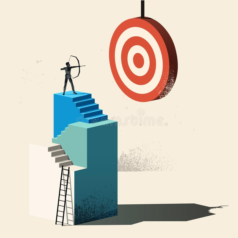 Επιχειρησιακός στόχος - στόχος υψηλός διανυσματική απεικόνιση