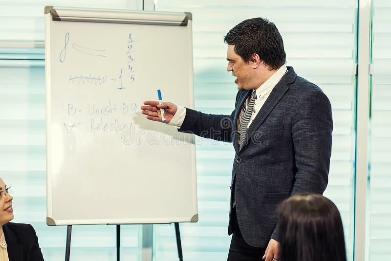 Επιχειρησιακός σύμβουλος, προϊστάμενος που αναλύει τους οικονομικούς αριθμούς, επιχείρηση Peopl στοκ εικόνες