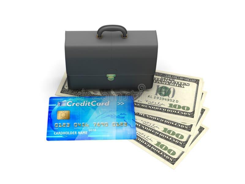 Επιχειρησιακός χαρτοφύλακας, πιστωτική κάρτα και λογαριασμοί δολαρίων απεικόνιση αποθεμάτων