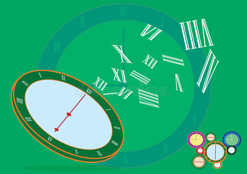 Επιχειρησιακός χρόνος - αφηρημένο υπόβαθρο ρολογιών - εννοιολογικό διανυσματική απεικόνιση