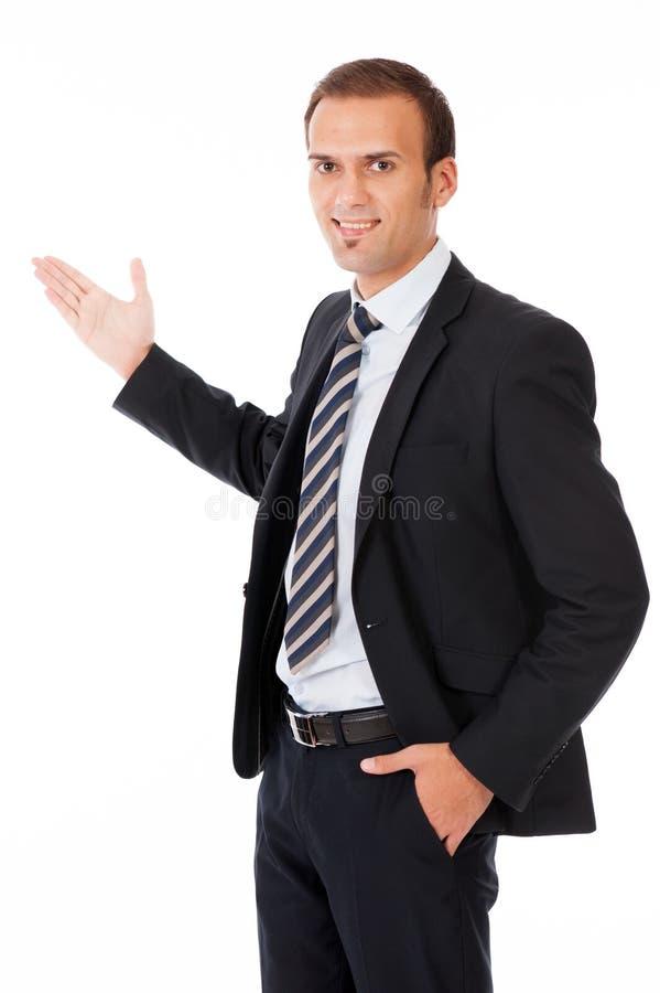 Επιχειρησιακό άτομο που παρουσιάζει στοκ εικόνες