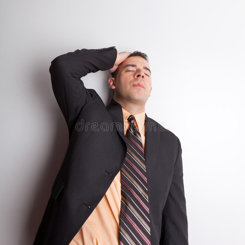 επιχειρησιακό άτομο που τονίζεται έξω στοκ φωτογραφία με δικαίωμα ελεύθερης χρήσης