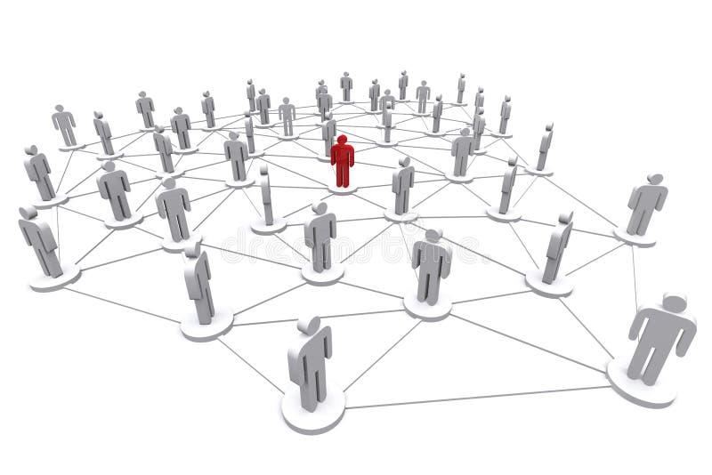 Επιχειρησιακό ανθρώπινο κοινωνικό δίκτυο απεικόνιση αποθεμάτων