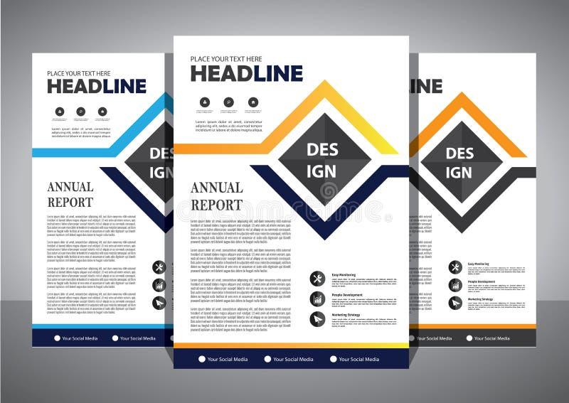 Επιχειρησιακό αφηρημένο διανυσματικό πρότυπο Το σχέδιο φυλλάδιων, καλύπτει το σύγχρονο σχεδιάγραμμα, ετήσια έκθεση, αφίσα, ιπτάμε διανυσματική απεικόνιση