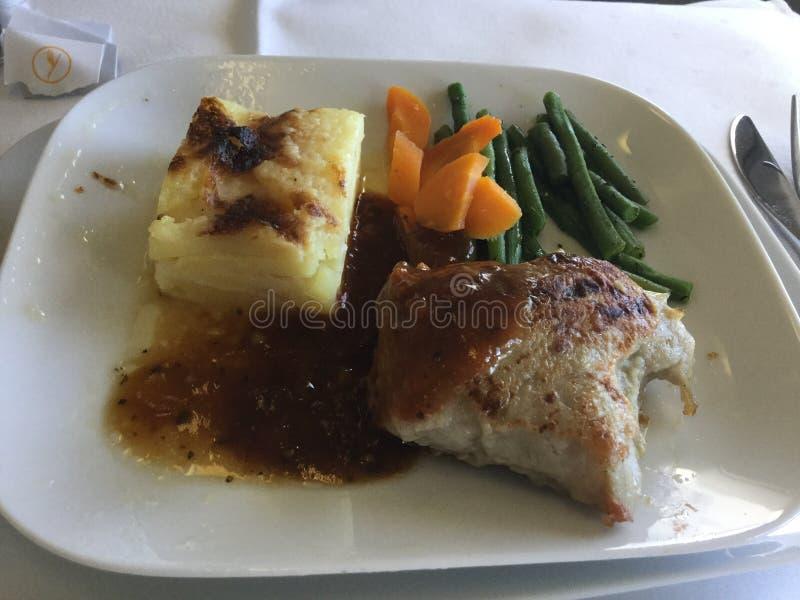 Επιχειρησιακό γεύμα της Lufthansa στοκ εικόνα