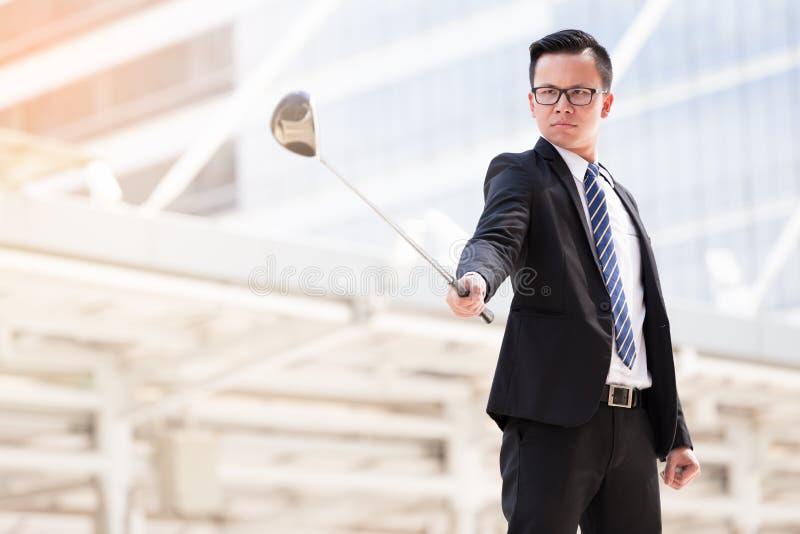 Επιχειρησιακό γκολφ στοκ εικόνα