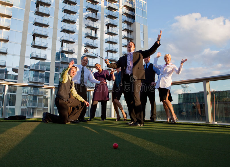 Επιχειρησιακό γκολφ στοκ εικόνες