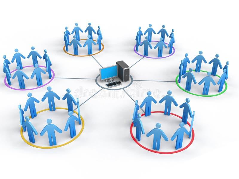 επιχειρησιακό δίκτυο διανυσματική απεικόνιση