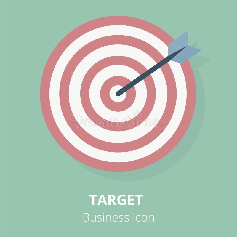 Επιχειρησιακό εικονίδιο Στόχος Επίπεδη διανυσματική απεικόνιση ελεύθερη απεικόνιση δικαιώματος