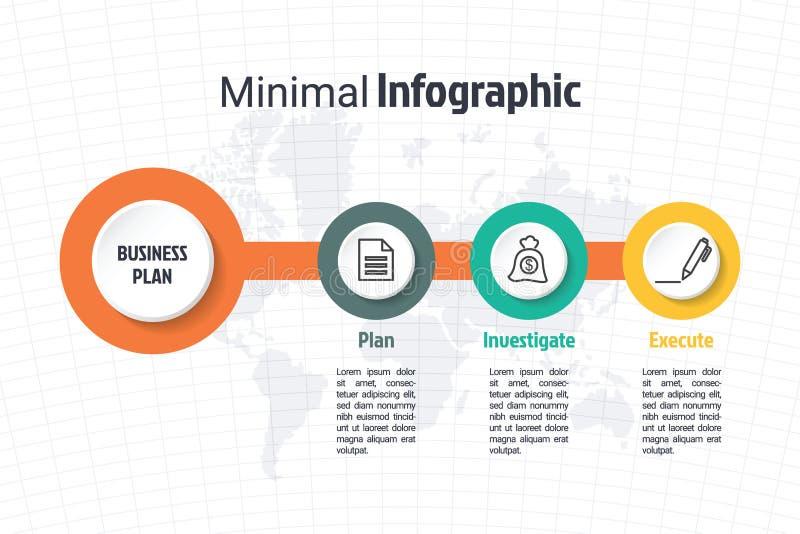 Επιχειρησιακό ελάχιστο infographic πρότυπο ελεύθερη απεικόνιση δικαιώματος