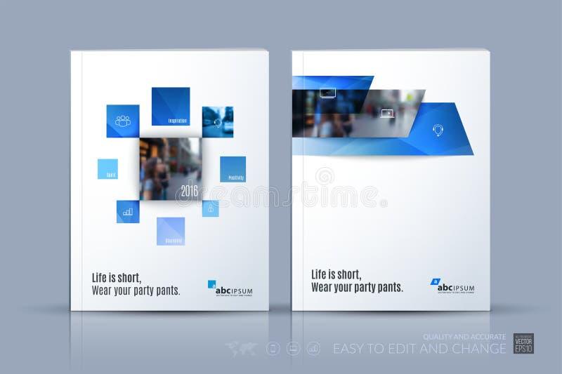 Επιχειρησιακό διανυσματικό πρότυπο Το σχεδιάγραμμα φυλλάδιων, καλύπτει το σύγχρονο σχέδιο α απεικόνιση αποθεμάτων