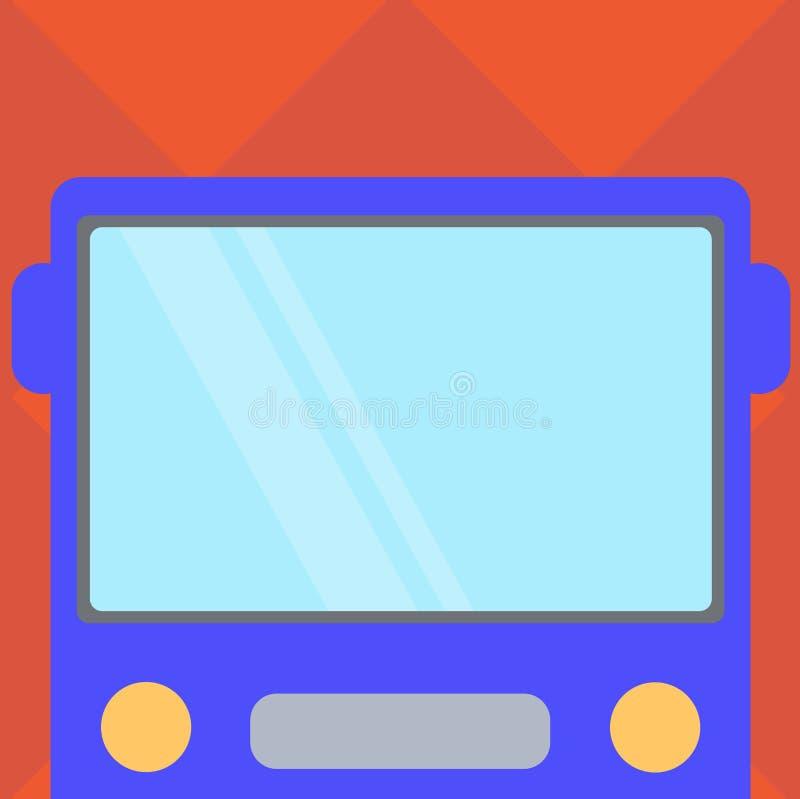 Επιχειρησιακό κενό πρότυπο για το σχεδιάγραμμα για τη συρμένη επίπεδη απόδειξη μπροστινή άποψη αφισών προώθησης ευχετήριων καρτών απεικόνιση αποθεμάτων