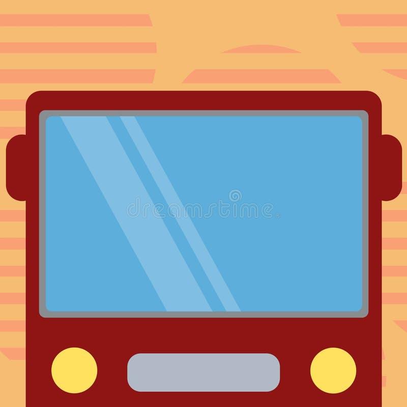 Επιχειρησιακό κενό πρότυπο για το σχεδιάγραμμα για τη συρμένη επίπεδη απόδειξη μπροστινή άποψη αφισών προώθησης ευχετήριων καρτών ελεύθερη απεικόνιση δικαιώματος