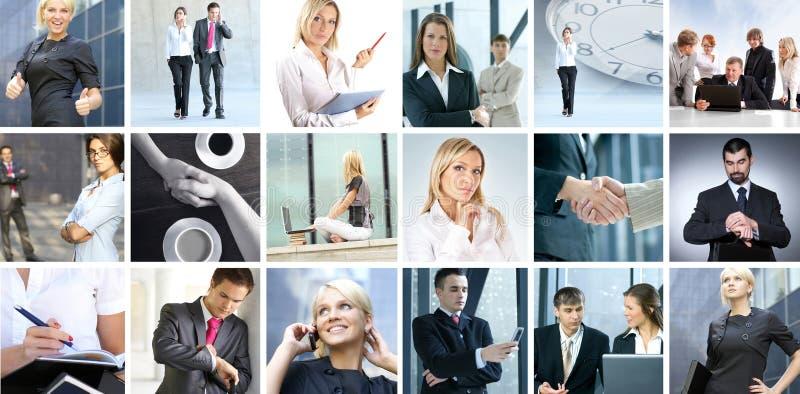 Επιχειρησιακό κολάζ των εικόνων με τους ανθρώπους στοκ εικόνα