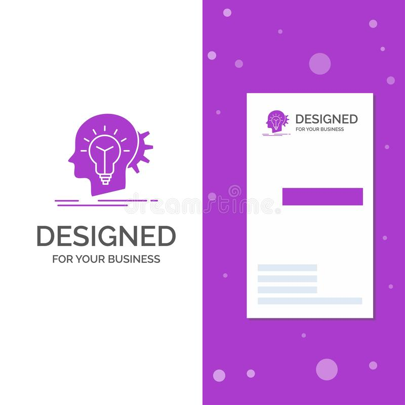 Επιχειρησιακό λογότυπο για δημιουργικό, δημιουργικότητα, κεφάλι, ιδέα, σκέψη r r απεικόνιση αποθεμάτων