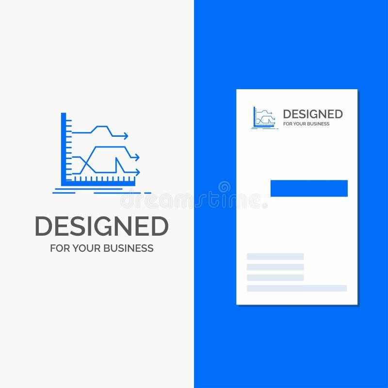 Επιχειρησιακό λογότυπο για τα βέλη, μπροστινά, γραφική παράσταση, αγορά, πρόβλεψη Κάθετο μπλε πρότυπο καρτών επιχειρήσεων/επίσκεψ απεικόνιση αποθεμάτων