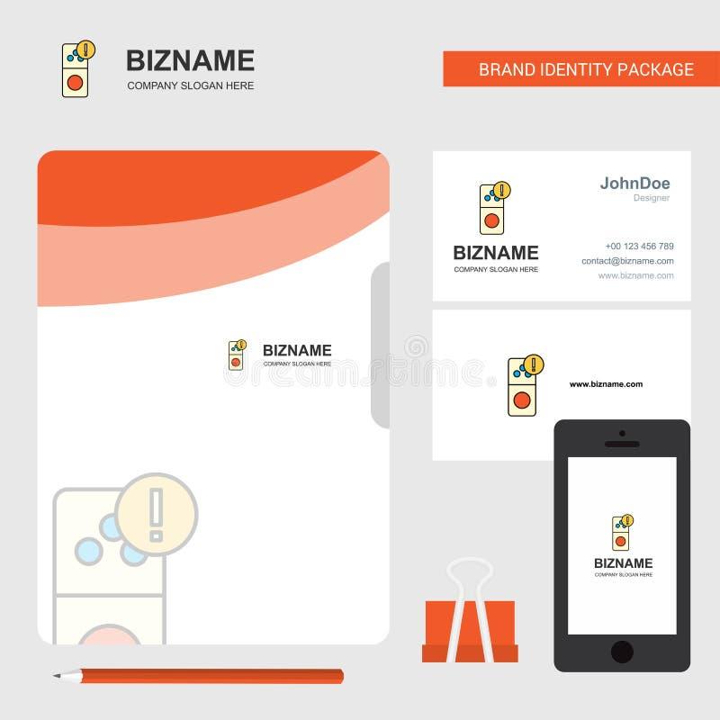 Επιχειρησιακό λογότυπο λάθους Διαδικτύου, κάρτα επίσκεψης κάλυψης αρχείων και κινητό App σχέδιο επίσης corel σύρετε το διάνυσμα α διανυσματική απεικόνιση