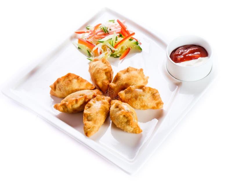 Επιχειρησιακό μεσημεριανό γεύμα στο λευκό στοκ εικόνες