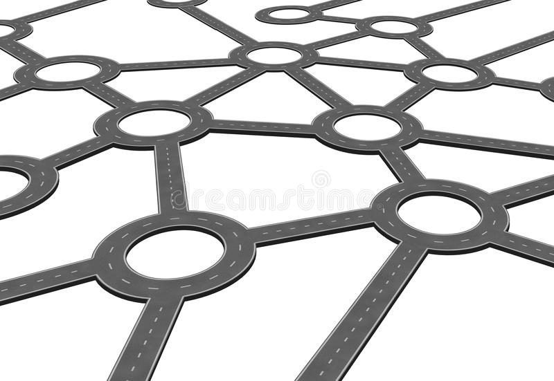 Επιχειρησιακό οδικό δίκτυο διανυσματική απεικόνιση