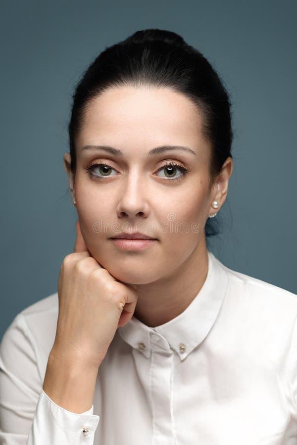 Επιχειρησιακό πορτρέτο του brunette στοκ εικόνες με δικαίωμα ελεύθερης χρήσης