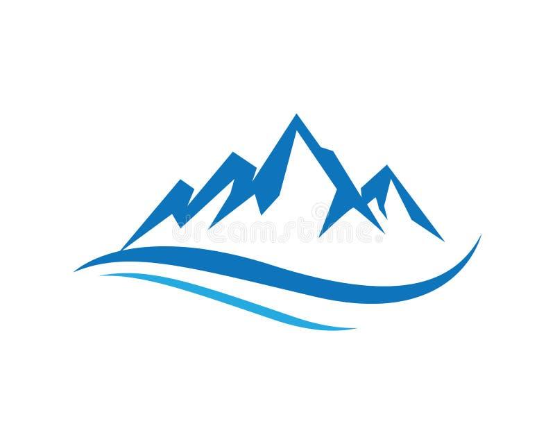 Επιχειρησιακό πρότυπο λογότυπων εικονιδίων βουνών απεικόνιση αποθεμάτων