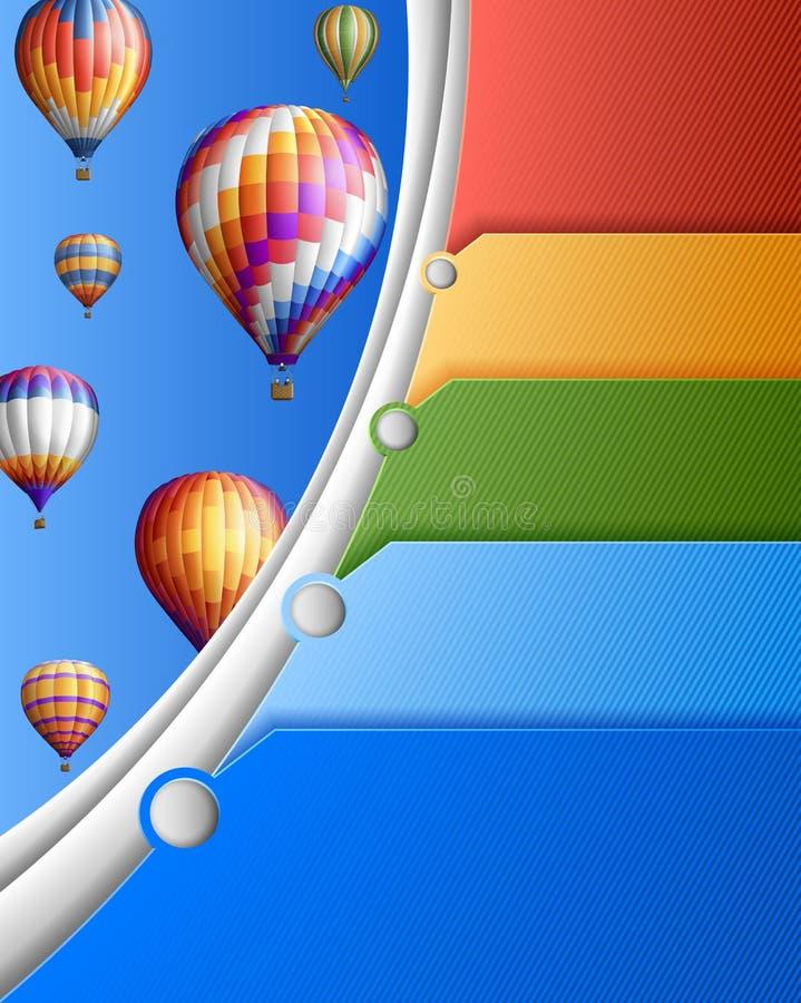 Επιχειρησιακό πρότυπο με τα μπαλόνια απεικόνιση αποθεμάτων